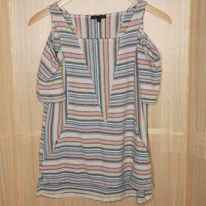 For Cynthia Linen Blend Striped  tunic. Small